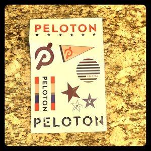 Sheet of Peloton stickers